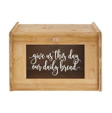 Bread Box Decal Give Us This Day Our Daily Bread Religious Etsy