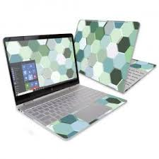 Abstract Collection Hp Spectre X360 13 2016 Custom Skins Wraps Hexagon Tiles Hp Spectre Abstract