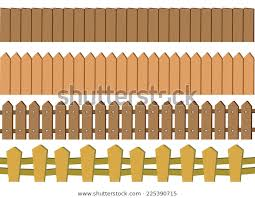 Vector Illustration Seamless Rustic Wooden Fence Stock Vector Royalty Free 225390715