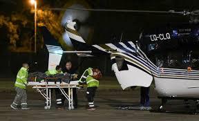 Llegó el vuelo con heridos y fueron rápidamente internados - Información  General