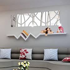 Creazy 14pcs 3d Mirror Rectangle Vinyl Removable Wall Sticker Decal Home Decor Art Diy Silver Visit Home Decor Home Decor Paintings Removable Wall Stickers