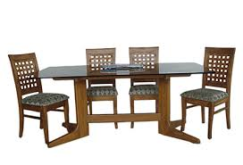 attractive dining table glass teak wood