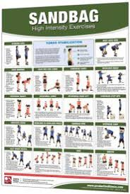 laminated fitness poster wall chart