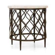 sirsi nickel finished round end table