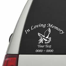 Dove With Wreath Custom In Loving Memory Decal