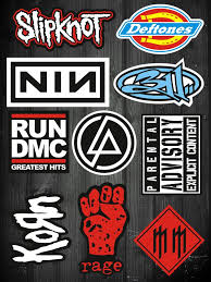 10 Pcs Korn Slipknot Metal Rock Band Waterproof Vinyl Stickers For Laptop Skateboard Luggage01 Band Stickers Brand Stickers Stickers