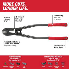 Milwaukee 24 In Bolt Cutter With 7 16 In Max Cut Capacity 48 22 4024 The Home Depot