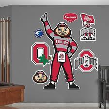 Fathead Ohio State University Brutus Buckeye Classic Mascot Wall Graphic Bed Bath Beyond