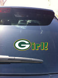 20 01 Green Bay Packers Girl Window Decal Devious Decals And Apparel