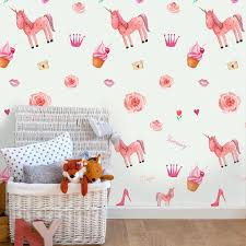 Funlife Pink Unicorn Wall Sticker For Kids Room Decor Self Adhesive Wallpaper Girl S Gift Waterproof Pvc Furniture Decal Sticker Wall Stickers Aliexpress