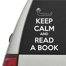 Keep Calm And Read A Book Vinyl Wall Decal Car Sticker Walls2lifedecals