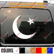 Crescent Moon Islam Pakistan Flag Decal Sticker Car Vinyl Pick Size Color Car Stickers Aliexpress