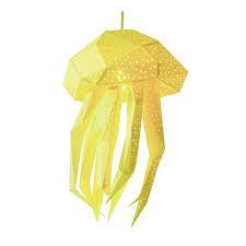 Jellyfish Geometric Lamp Led Nightlight Kids Room Etsy