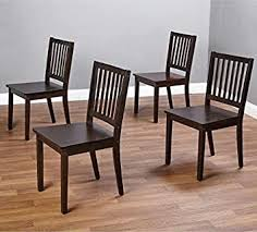 Amazon Com Slat Espresso Wooden Dining Chairs Set Of 4 A Good Dining Chair Compliments Your Dining Room Furniture Four Of These Dining Room Chairs Will Enhance Your Dining Tables Guaranteed This