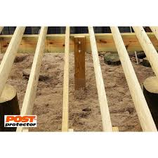 Post Protector 6 In X 6 In X 42 In In Ground Post Decay Protection 6642 The Home Depot Fence Post Installation Cedar Posts Cedar Fence Posts