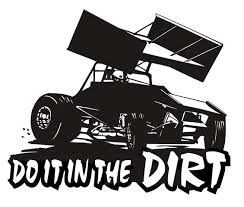 Do It In The Dirt Sprint Car Decal Sticker