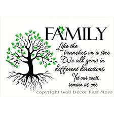 Family Like Branches Roots Remain As One Home Decor Lettering With Tree And Leaves Art Quote Wall Decals 23 X 14 Black Lime Green Walmart Com Walmart Com