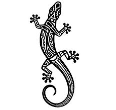 Amazon Com Tribal Gecko Sticker Lizard Decal Santa Fe Style Lizard Maori Animal Art Handmade