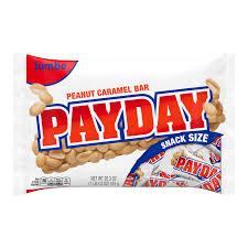 payday peanut caramel candy bars snack