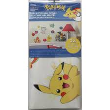 Wall Decals Stickers Home Garden Pokemon Peel Stick Wall Decals 24 New Boys Room Stickers Pikachu Decor 360idcom Fr