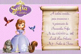 Sofia Invitacion Convite Princesinha Sofia Convite Princesa