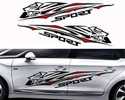Amazon Com Fochutech 1 Set Car Auto Body Sticker Sport Self Adhesive Side Truck Vinyl Graphics Decals Simple Black Automotive
