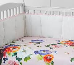 hannah fl organic fitted crib sheet