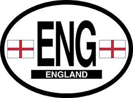 England Oval Car Decal