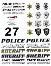 Mytrickrc Police Sheriff Decal Set Mykst3 Bodies Accessories Rc Planet