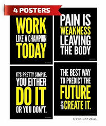 gym inspirational posters motivational workout pain fitness quotes