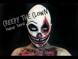 scary clown makeup tutorial for