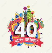 Cumpleanos Cuarenta 40 Anos Tarjeta De Felicitacion De La