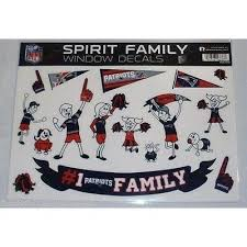 Nfl New England Patriots Spirit Family Decals Set Of 17 By Rico Indust All Sports N Jerseys