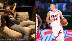 Heat's Tyler Herro spends time with girlfriend Katya Elise Henry after  triumph over Bucks - Republic World