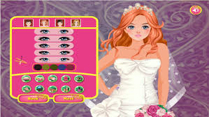 happy wedding dress up and make up