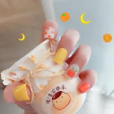 summer fruit full cover fake nail tips