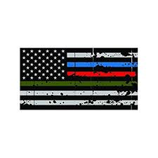 Trucks 3 Pairs 3x5 In American Usa Flag Decal Stickers For Cars Creatrill Reflective Thin Blue Red Green Line Decal Matte Black Hard Hat Support For Police Fire Officers Military Troops Exterior