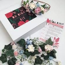 kit blush flower crown baby shower gift
