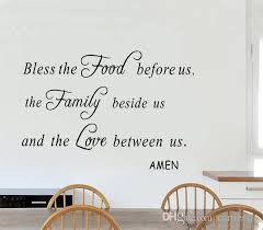 Bless The Food Before Us Wall Decal Quotes Vinyl Letters And Words Wall Art Religious Sticker For Living Room Kitchen Decoration Decorating Decals Decorating Stickers From Carrierxia 3 29 Dhgate Com
