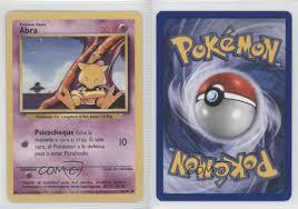 1999 Pokemon Spanish Unlimited Abra #43 0b4