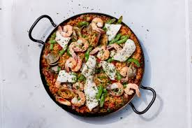 Grilled Seafood Paella Recipe