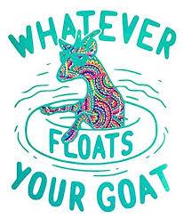 Whatever Floats Your Goat Vinyl Decal Sticker Water Bottle Sticker Window Decal Laptop Decal Tumbler Bu Vinyl Decals Goat Shirts Monogram Vinyl Decal