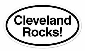 Cleveland Cle White City Oval Car Window Bumper Sticker Decal 5 X 3 For Sale Picclick
