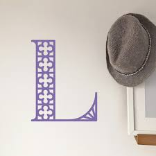 Intricate Initial Wall Decal Match Set Love
