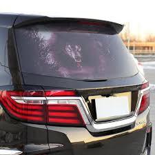 Halloween 3d Transparent Car Back Rear Window Decal Vinyl Sticker Wolf Ebay