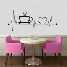 I Love Coffee Wall Decal Kitchen Dining Room Wall Decor Coffee Cup Vinyl Wall Stickers Office Home Decoration Pw55 Wall Stickers Aliexpress