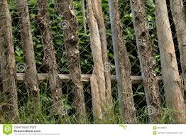 Garden Fence With Wire Mesh For Protection Stock Photo Image Of Protection Chain 95730824