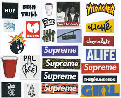 Supreme Sticker Pack 25 Stickers Free Shipping Worldwide Skateboard Vinyl Decal Stickers Supreme Sticker Packs