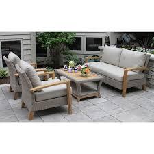 dillard 4 piece teak sofa seating group