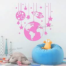 Planet Wall Stickers Rocket Decals Nursery Room Decor Space Ship Vinyl Wall Decal Kids Room Boys Bedroom Removable Sticker S459 Wall Sticker Planets Wall Stickersvinyl Wall Decals Aliexpress
